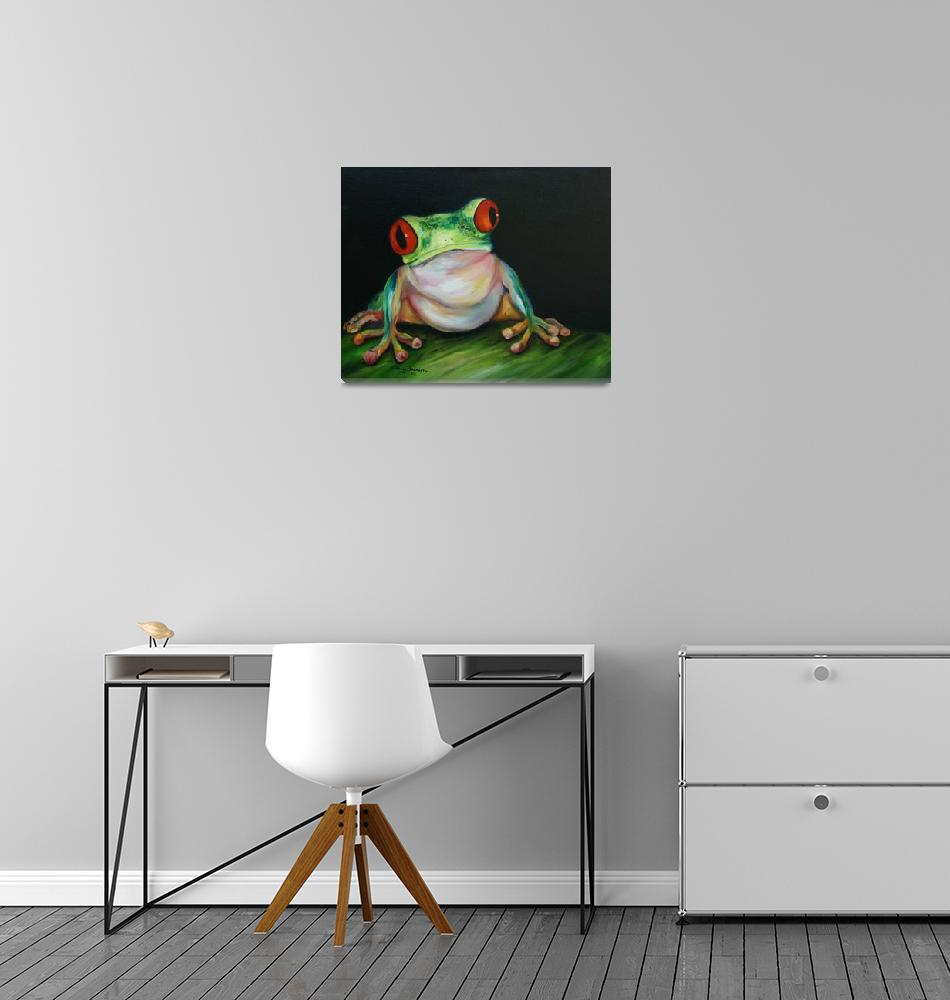 """Red Eyed Tree Frog""  (2008) by artistamy"