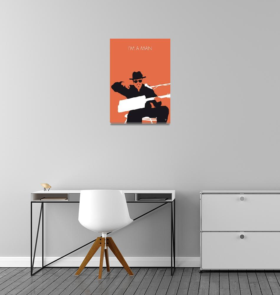 """No103 MY Bo Diddley Minimal Music poster""  by Chungkong"