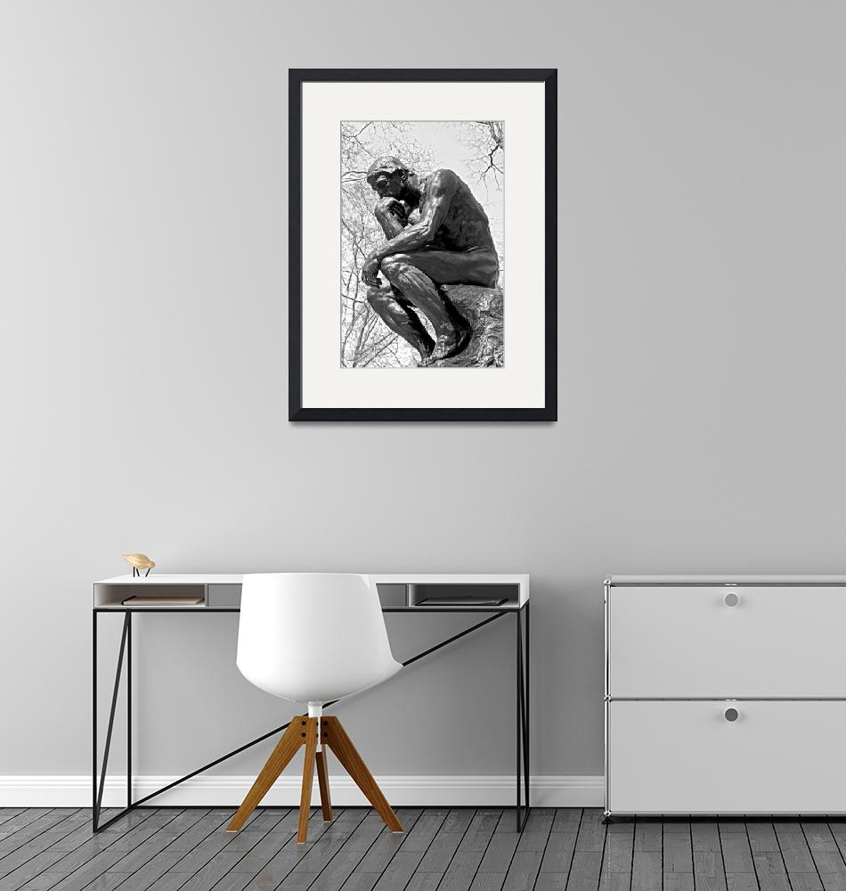"""""""The Thinker in Black and White""""  by lisa5"""