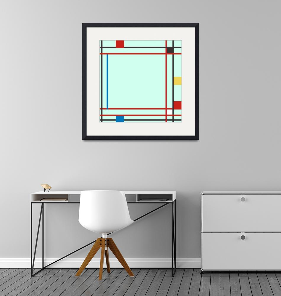 """""""ABSTRACT COMPOSITION 06 Piet Mondrian Style""""  by motionage"""
