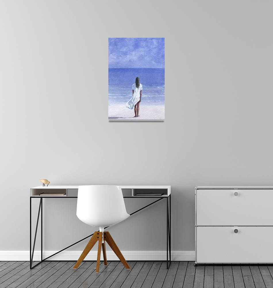 """""""Girl on beach, 1995""""  by fineartmasters"""