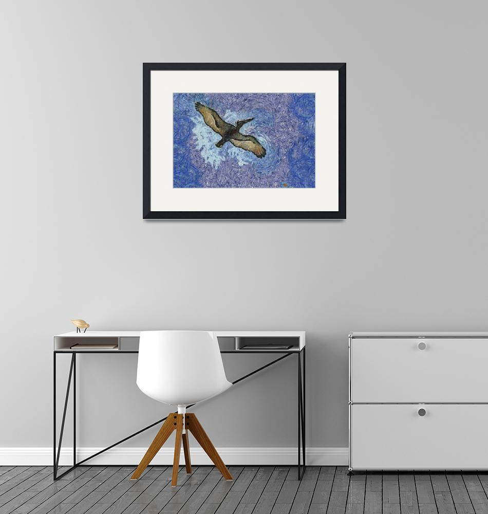 """""""Van Gogh Style Pelican""""  by EyeInVision"""