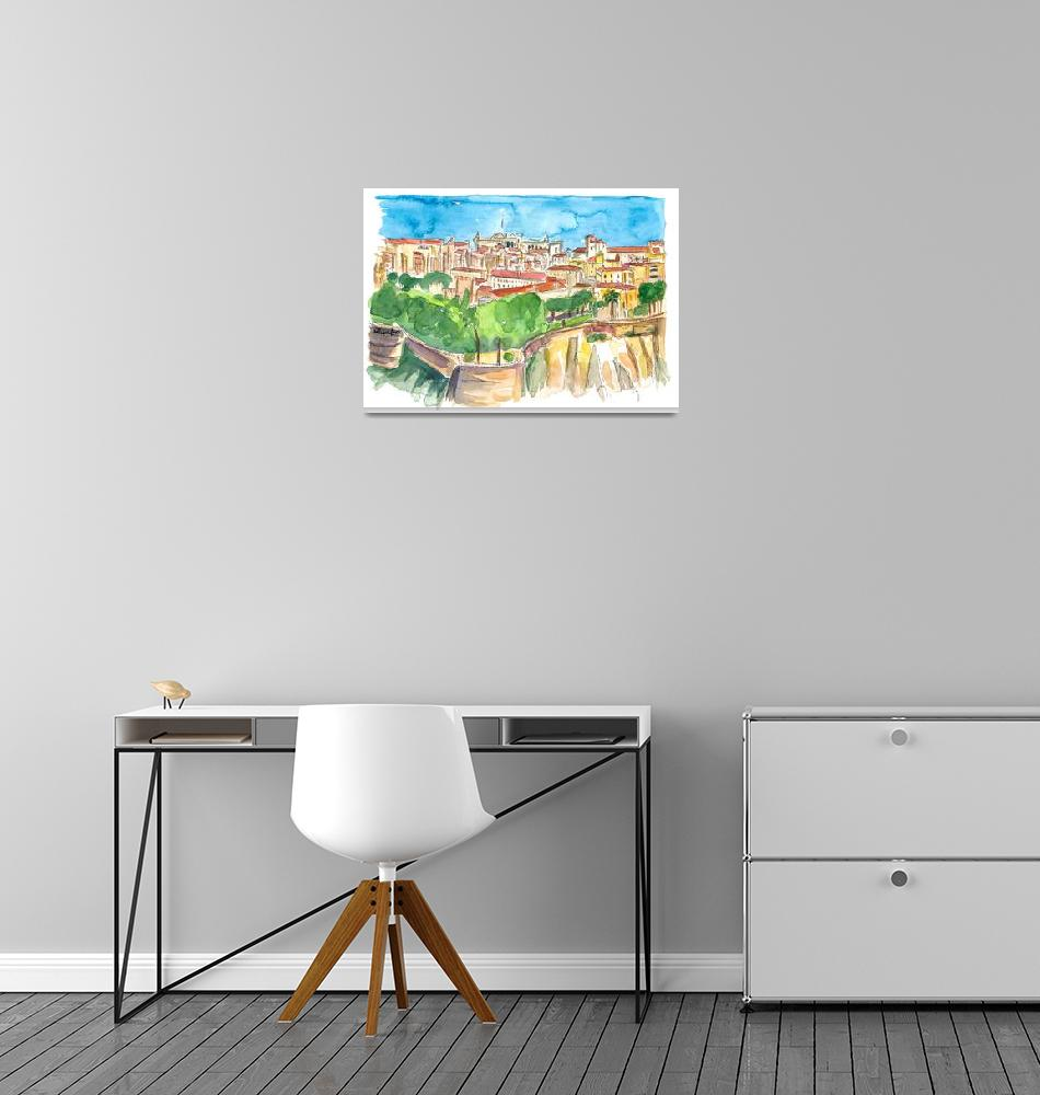 """Monaco Astonishing View With Rock And Fortress""  (2020) by arthop77"