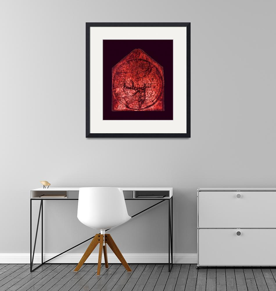 """""""Hereford Mappa Mundi Red Tint Larger Violet Border""""  (2014) by TheNorthernTerritory"""