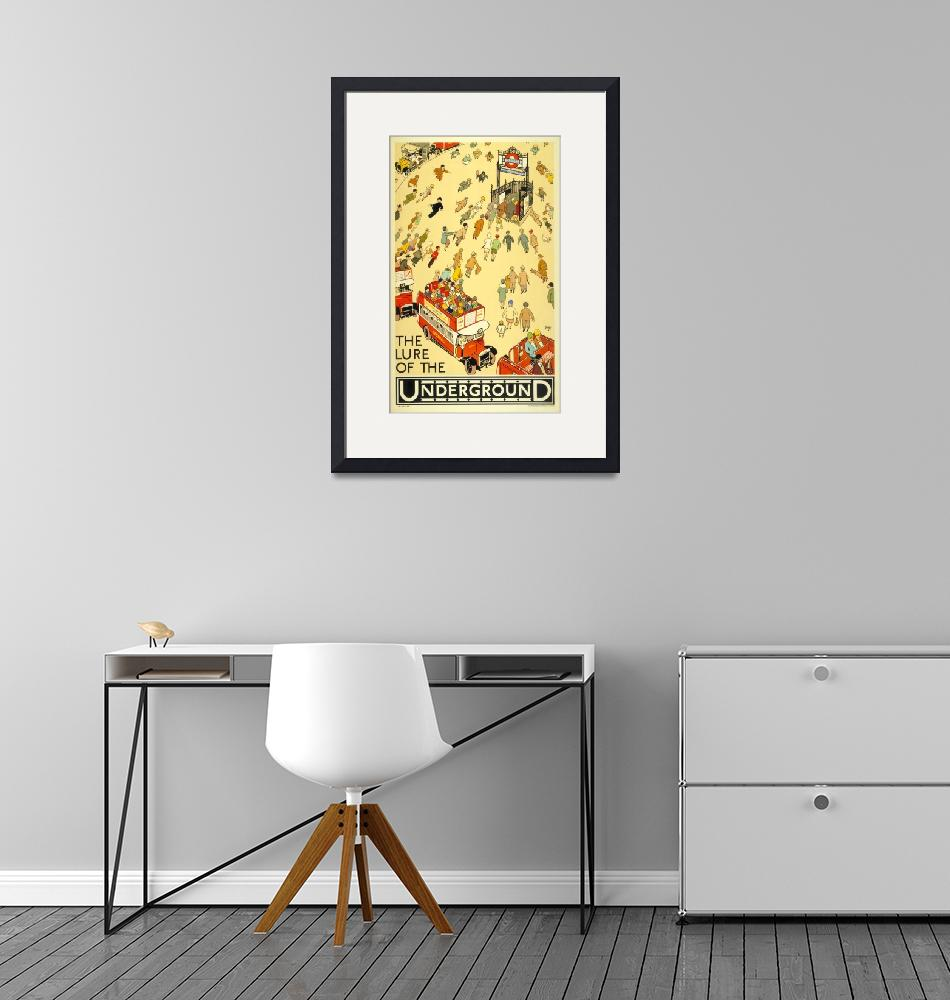 """""""The Lure of the Underground Vintage Poster""""  by FineArtClassics"""