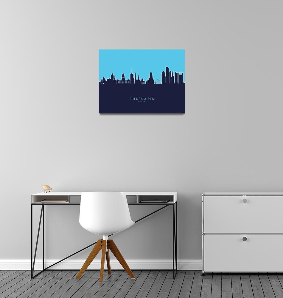 """Buenos Aires Argentina Skyline""  (2020) by ModernArtPrints"