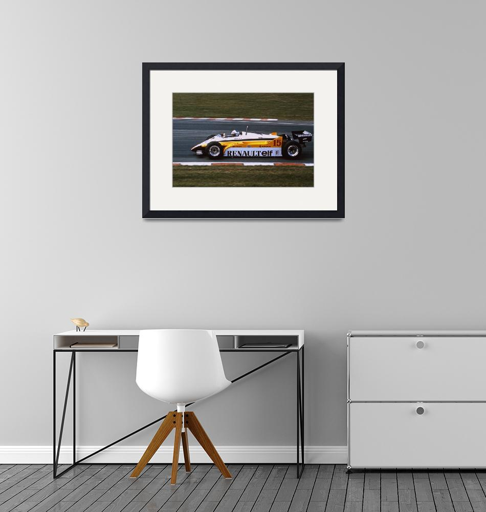 """Alain Prost Renault RE20 F1 Brands Hatch British G""  by antsphoto"