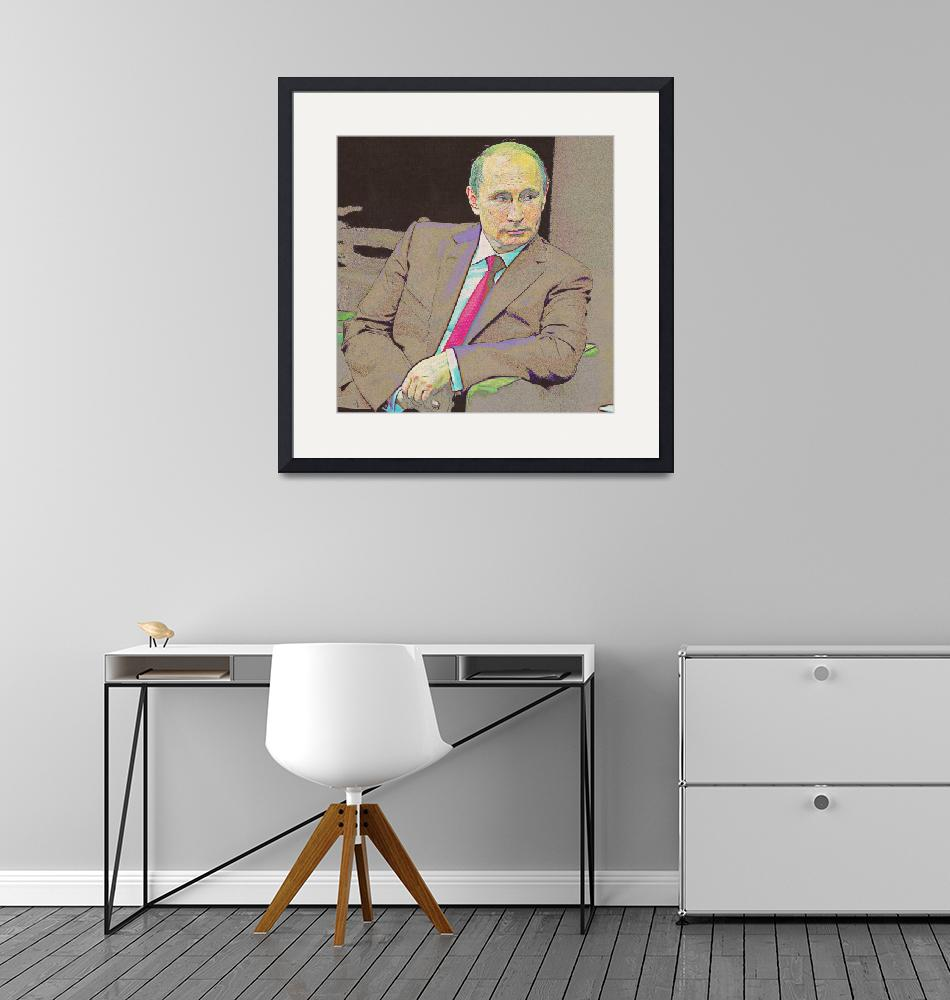 """""""Poster of Russian President Vladimir Putin""""  by motionage"""