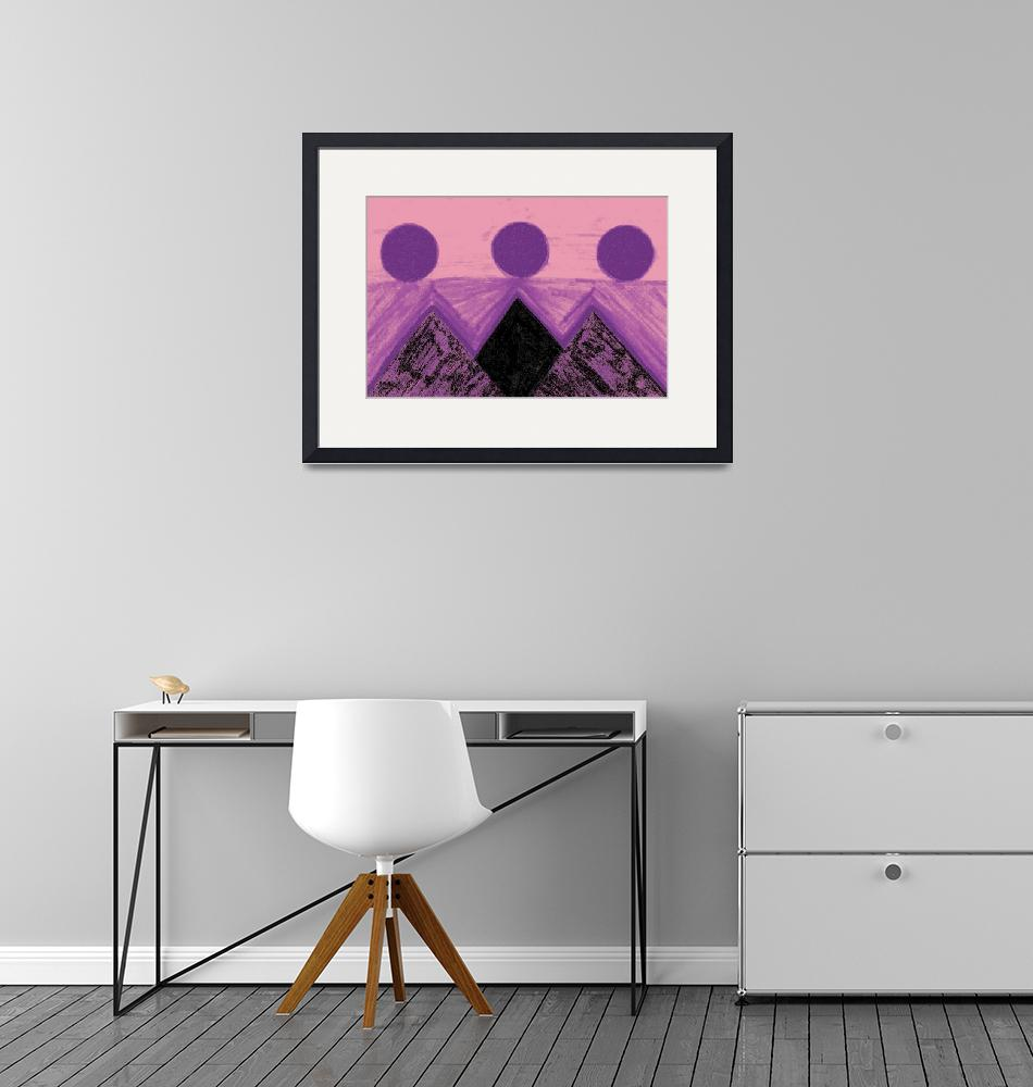 """""""Pyramids Of Other Worlds In Pink and Purple""""  by Atlantis-Seeker-Art"""