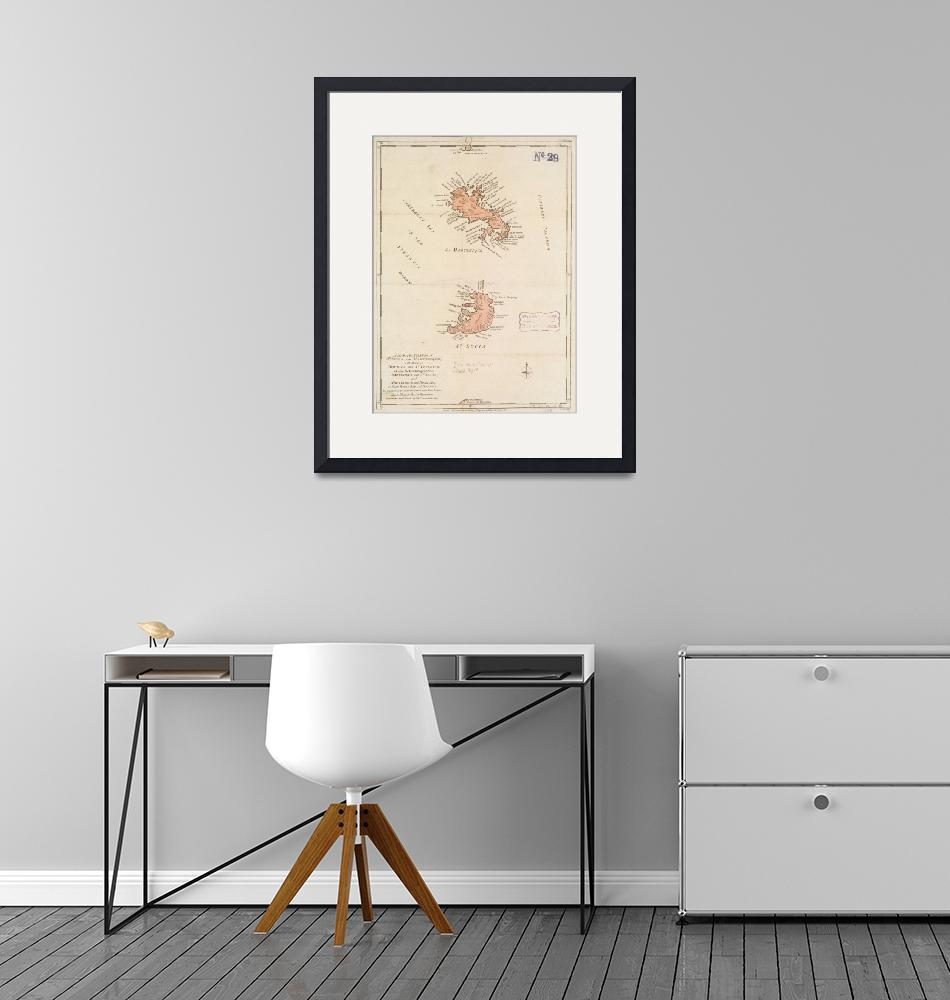 """""""Vintage Map of St Lucia & Martinique (1781)""""  by Alleycatshirts"""