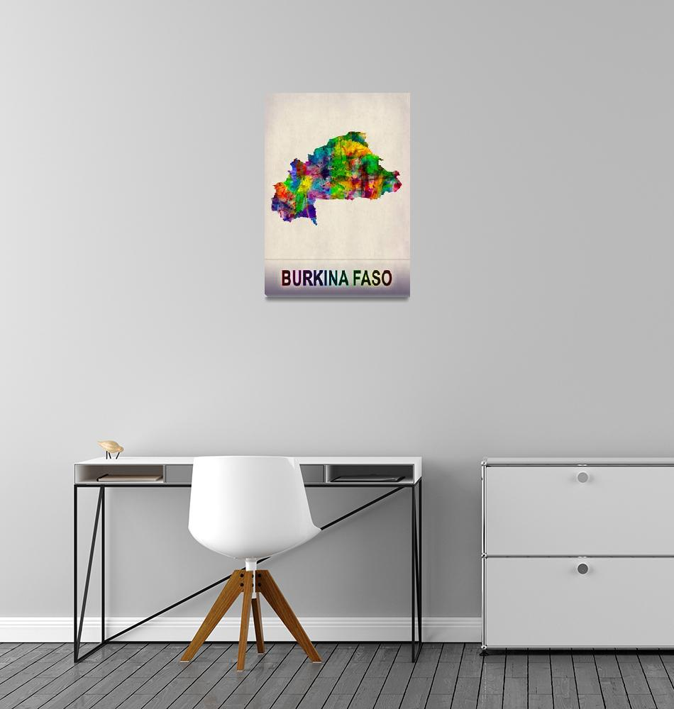 """""""Burkina Faso Map""""  by Towseef"""