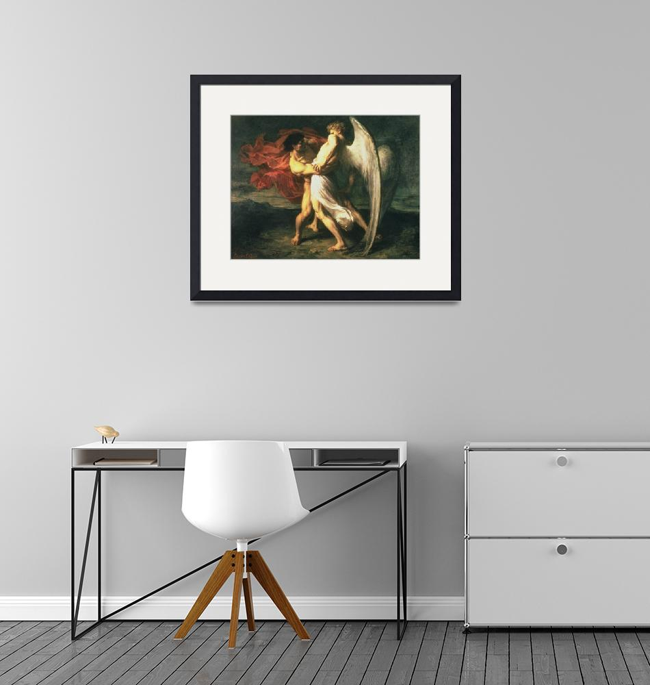 """""""Jacob Wrestling with the Angel""""  by fineartmasters"""