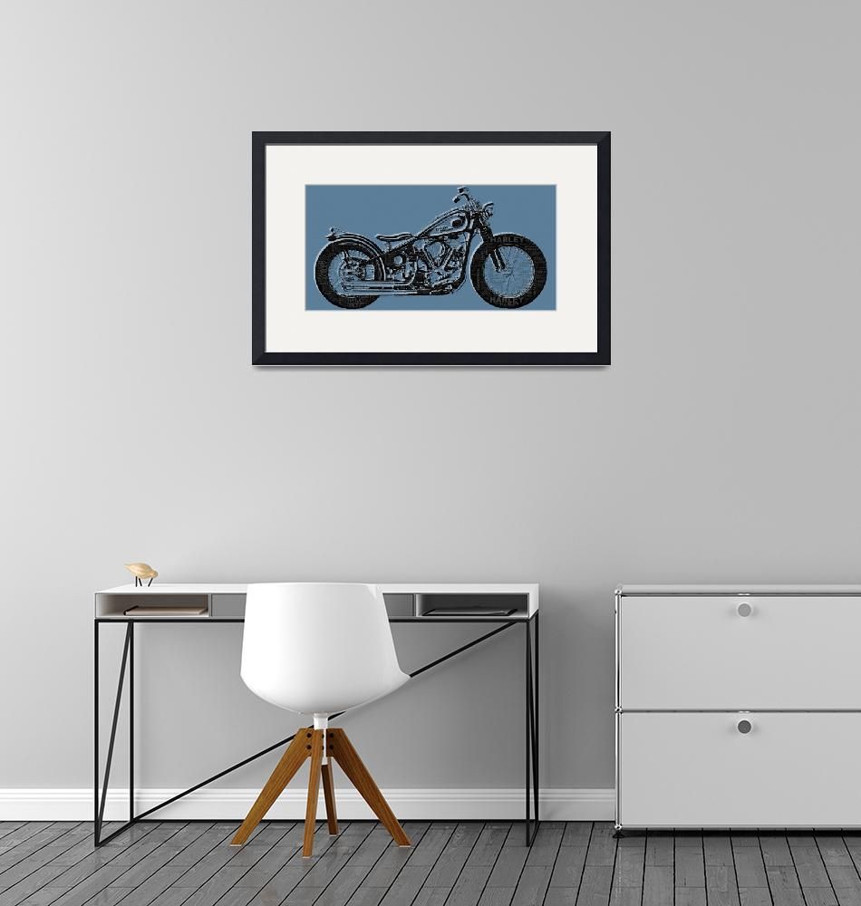"""Harley-Davidson and Words""  (2014) by RubinoFineArt"