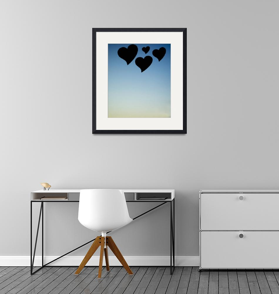 """""""Love hearts shapes photograph romantic valentines""""  by edwardolive"""