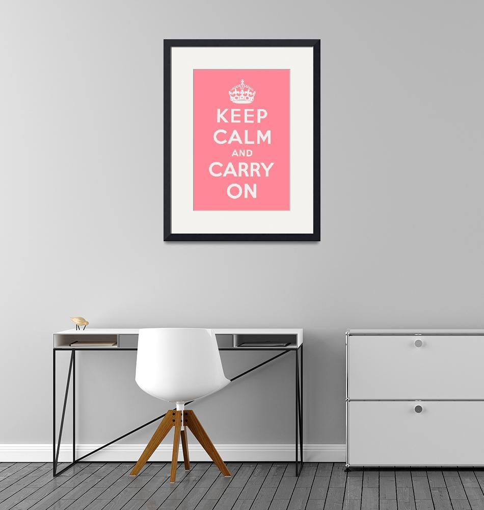 """Pink Keep Calm And Carry On 1""  by oldies"