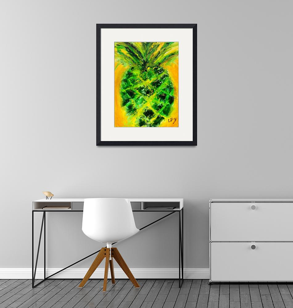 """""""Pineapple in Green"""" by lisapyoung"""