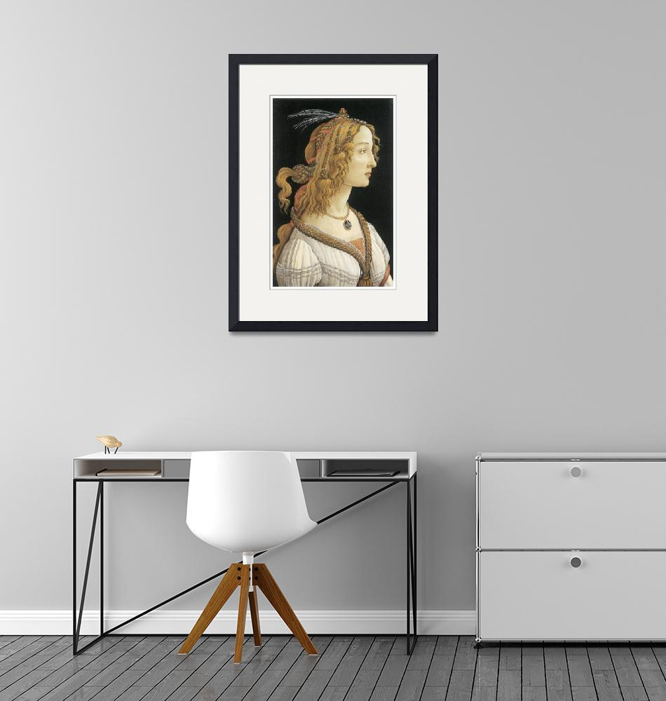 """""""Young Woman in Mythological Guise by Botticelli""""  by ArtLoversOnline"""