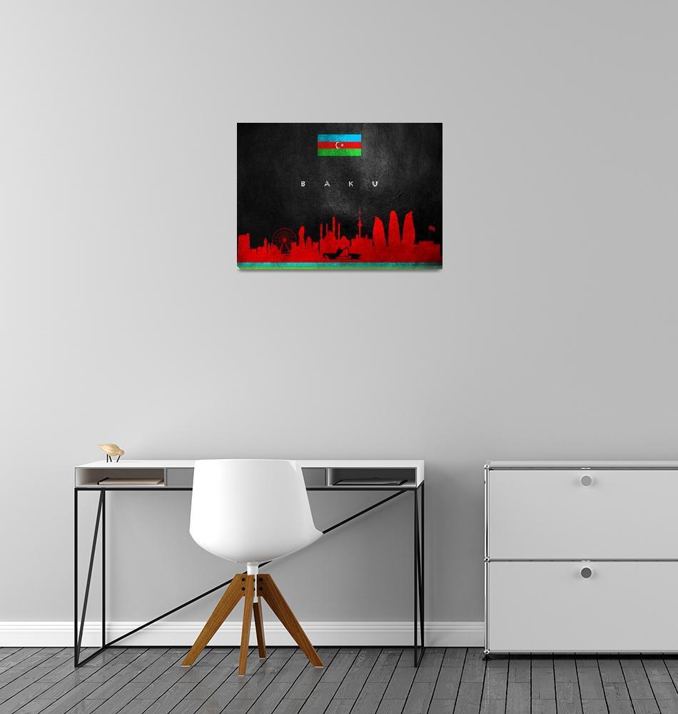 """""""Baku Azerbaijan Skyline""""  (2019) by ABConcepts"""