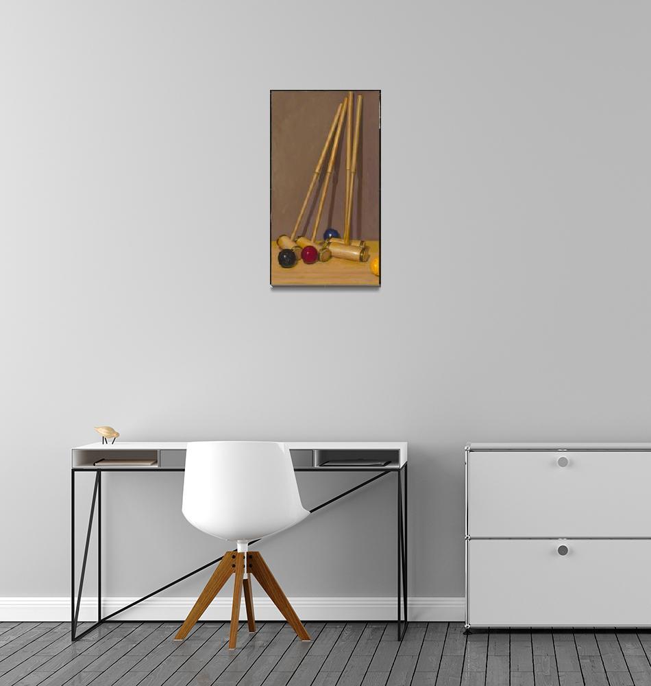"""Croquet Set""  by BarbaraAllen"