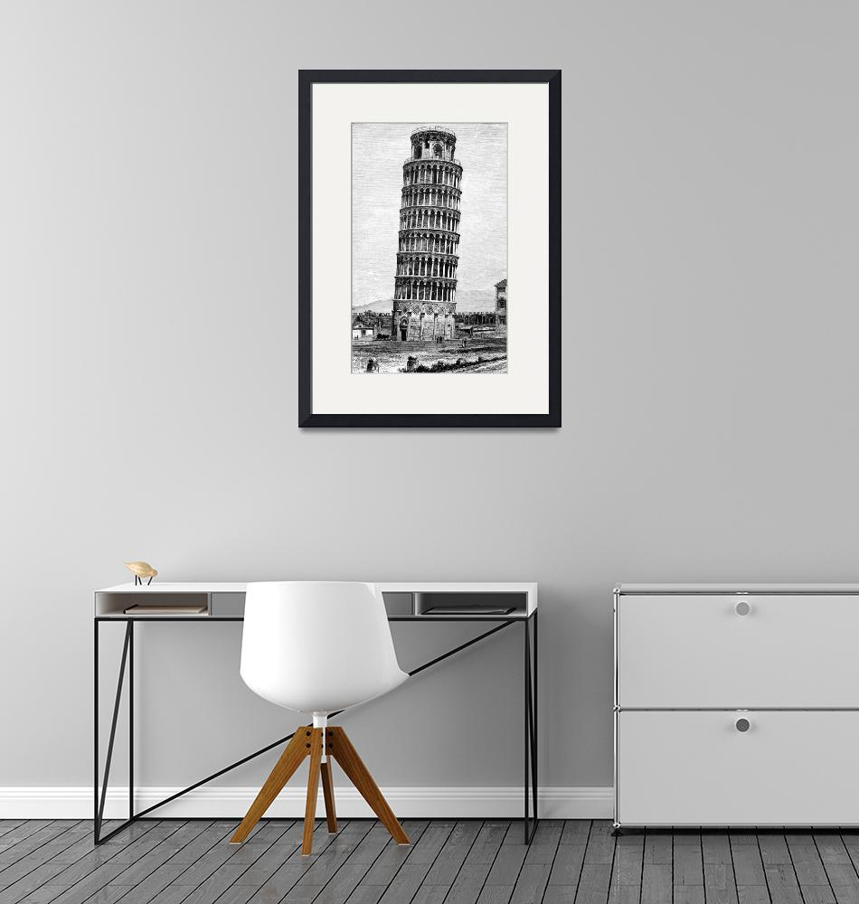 """""""Leaning Tower Of Pisa 1870 Drawing""""  (2014) by WilshireImages"""