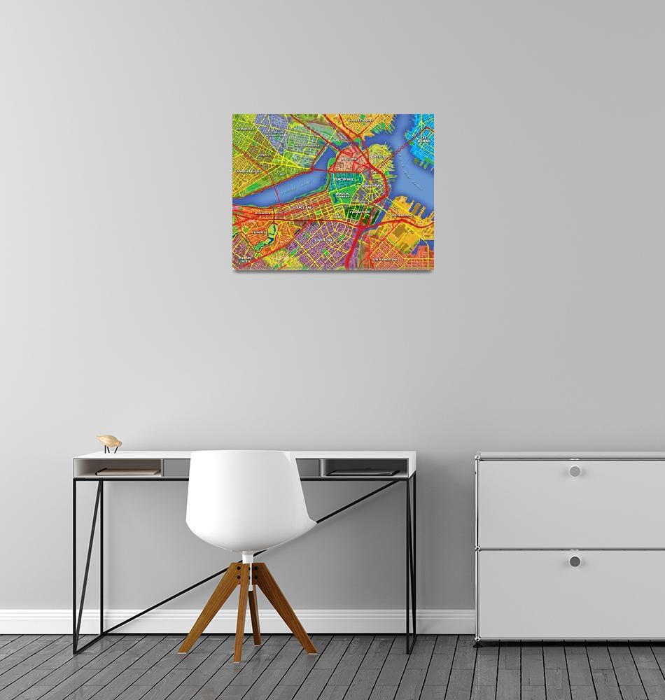 """Boston Map Art""  (2013) by Hein"