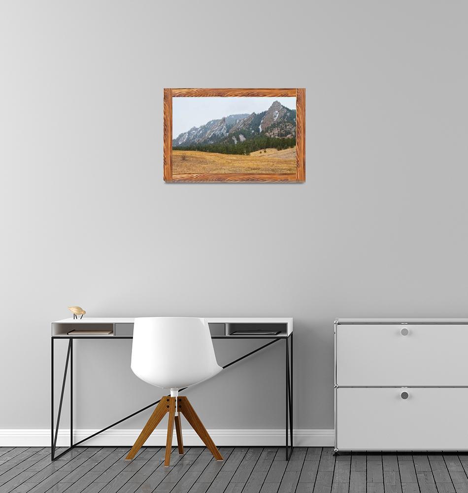 """Flatiron Barn Wood Picture Window Frame View""  by lightningman"