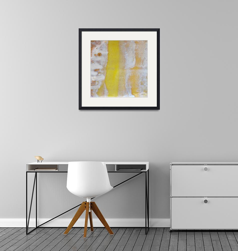 """67. v2 Yellow and White Abstract Canvas Print""  by maggieminordesigns"