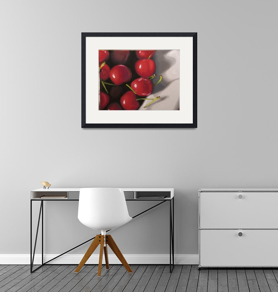 """""""Cherries in a Bowl""""  (2008) by kathylumsden"""