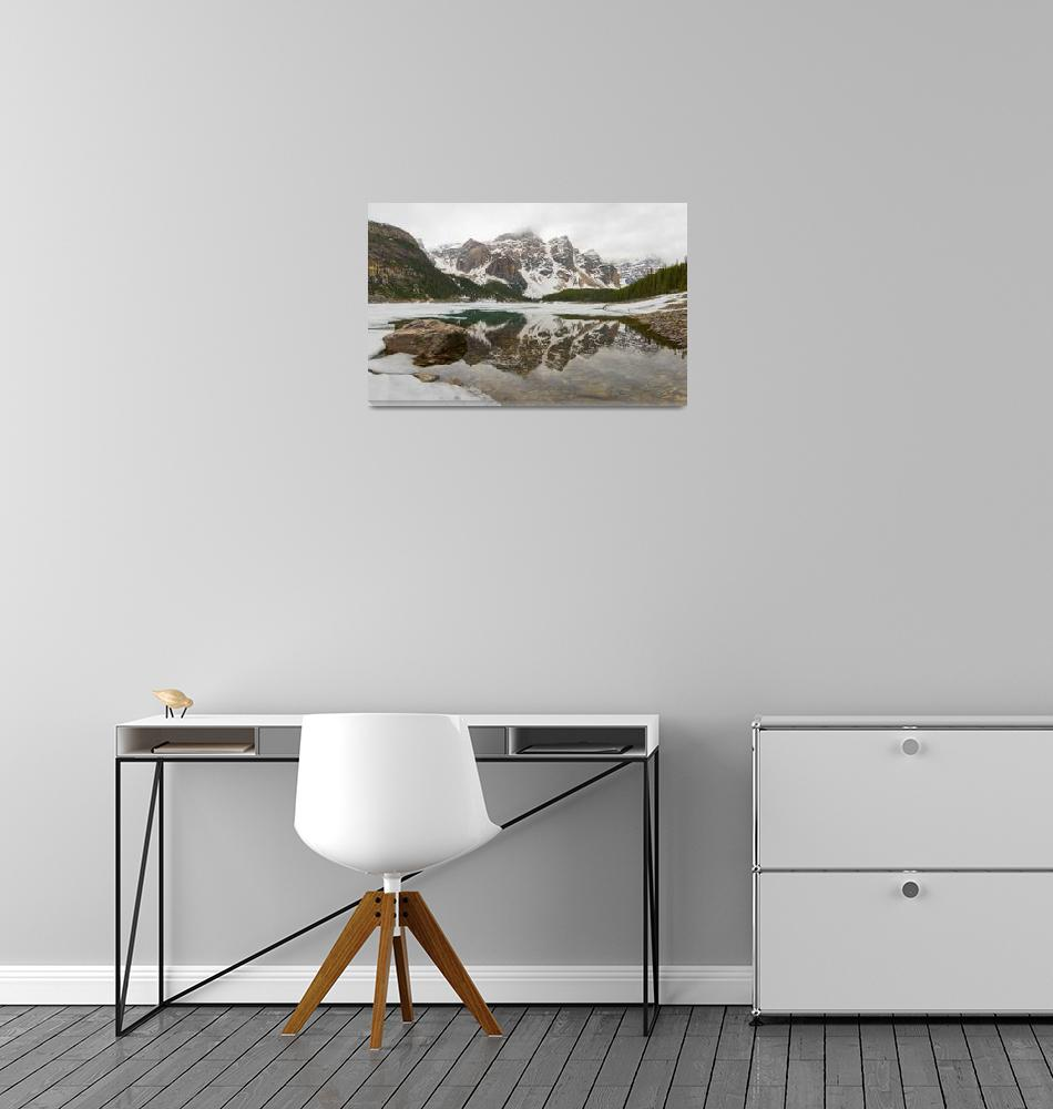 """Frozen Moraine Lake, Banff NP""  by Pats_Piks"