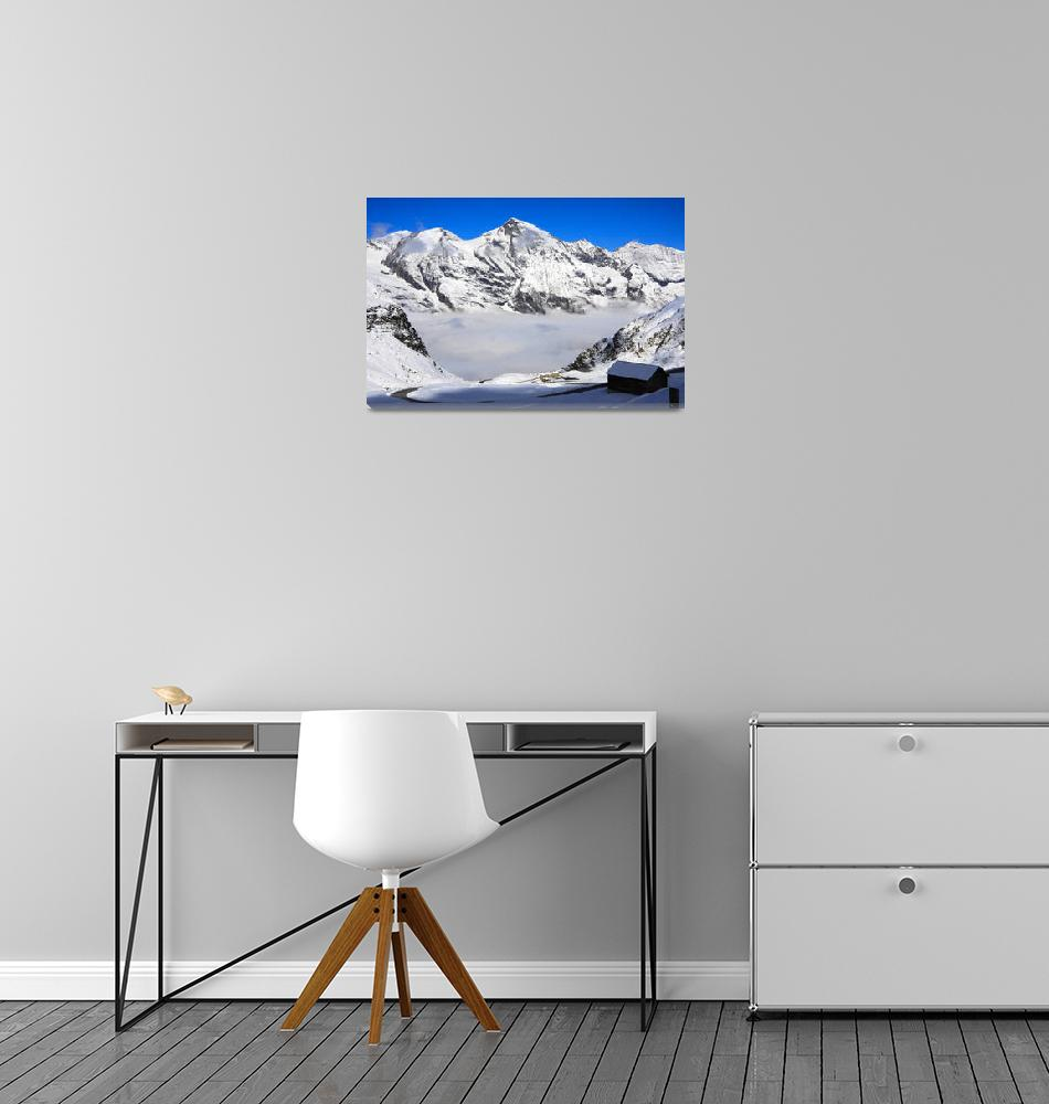 """""""Snowtime in the Austrian Mountains""""  (2010) by SueLeonard"""