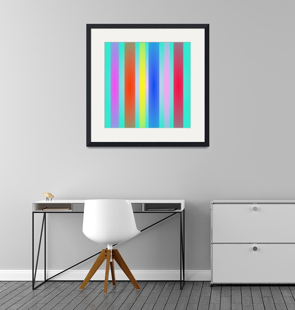 """""""Vertical Stripes Art Square""""  by masabo"""