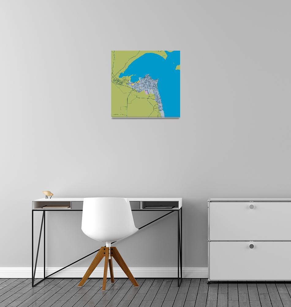 """""""Minimalist Modern Map of kuwait City, Kuwait 5""""  by motionage"""