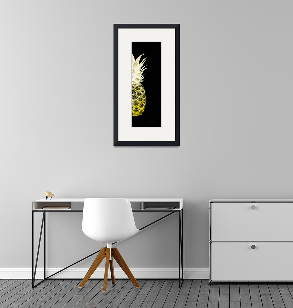 """14NR Artistic Glowing Pineapple Digital Art Yellow""  (2016) by Ricardos"