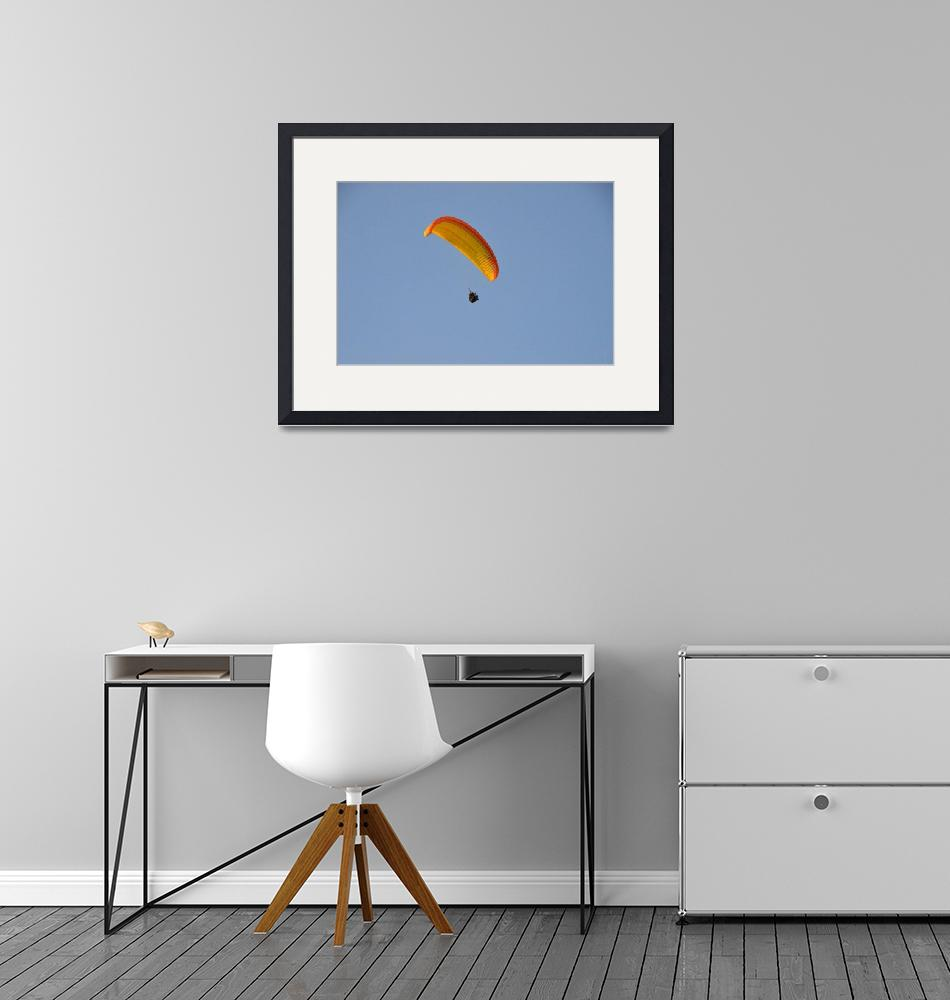 """Soaring Paraglider""  (2014) by malcolmsnook"