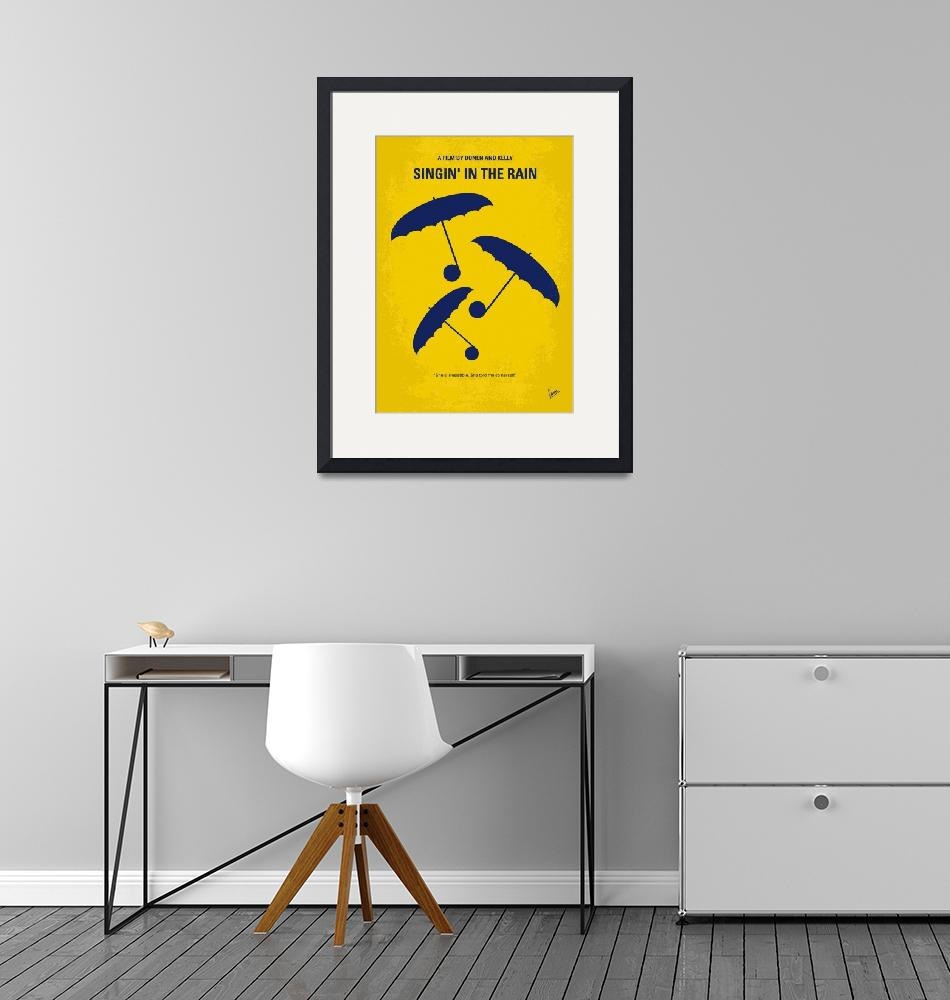 """No254 My SINGIN IN THE RAIN minimal movie poster""  by Chungkong"