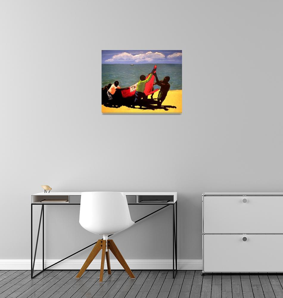 """The fishermen""  (1994) by wendeljohnston"