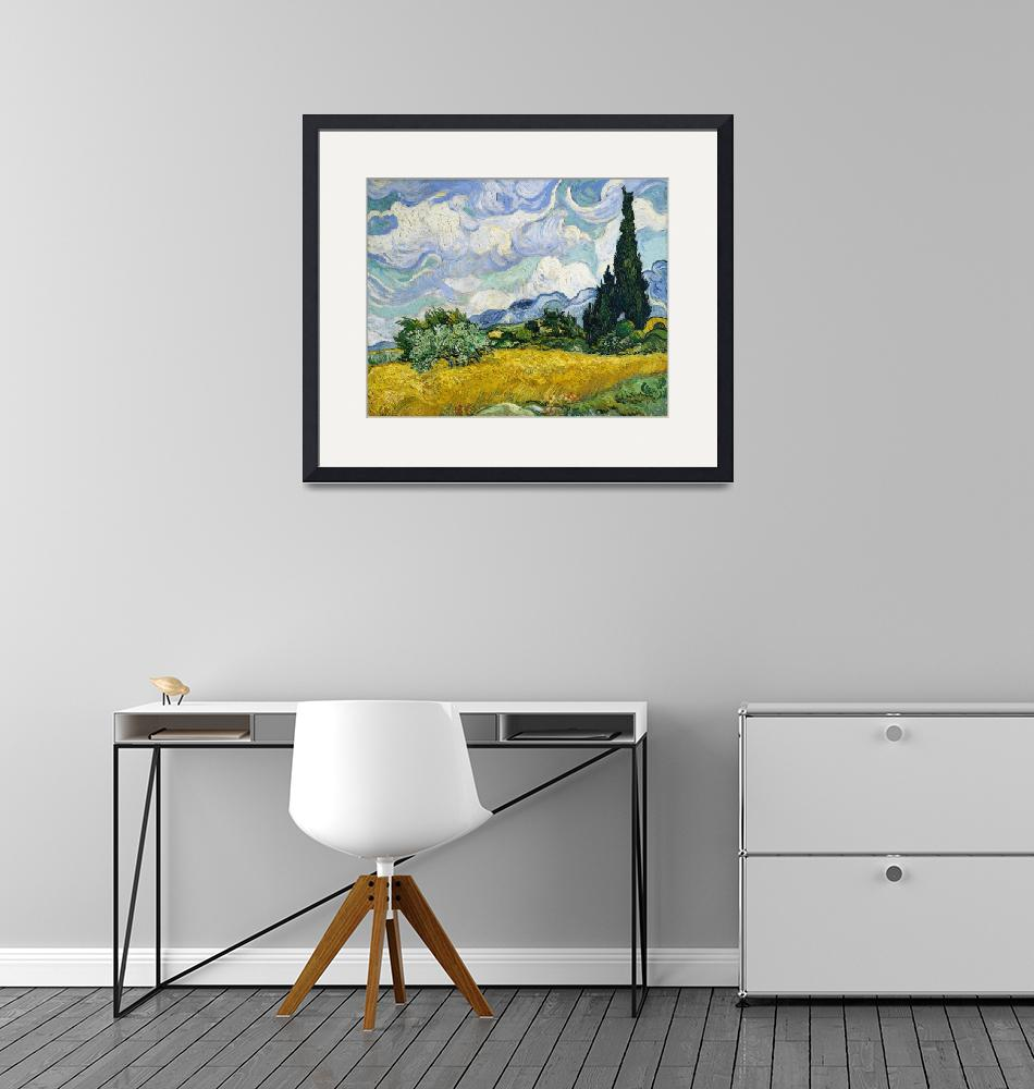 """Wheat Field with Cypresses by Van Gogh""  by FineArtClassics"