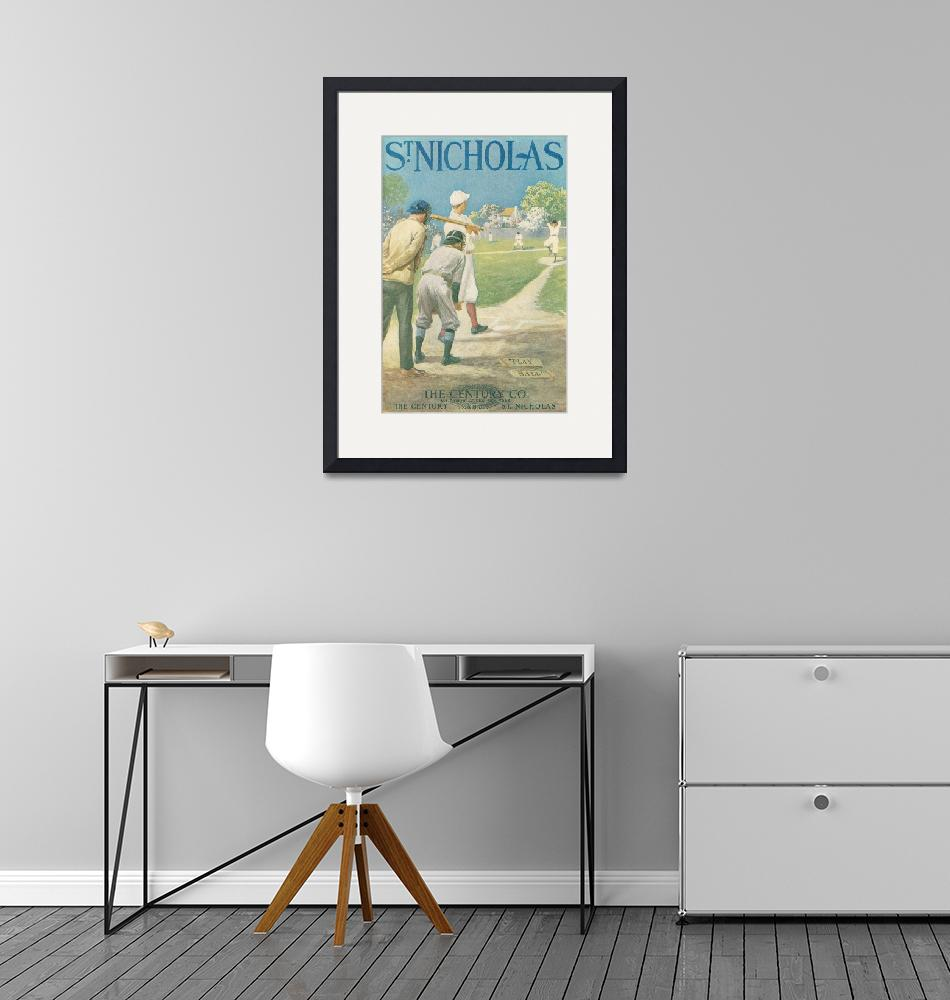 """St. Nicholas Vintage Baseball Poster""  by FineArtClassics"
