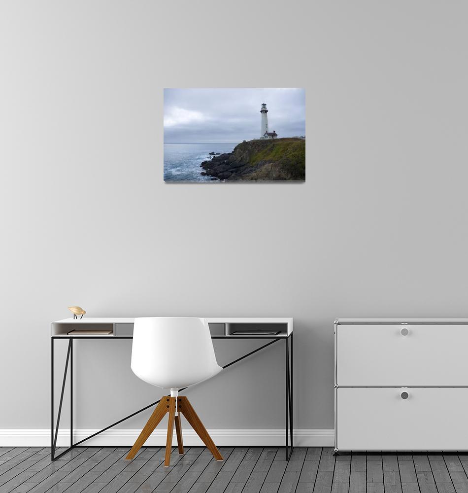 """Pigeon Point Lighthouse at Dusk - ocean seascape""  (2008) by miir"