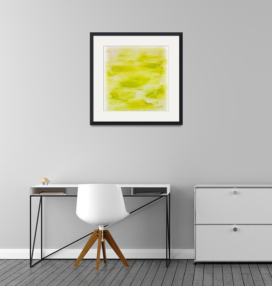 """""""Lime Green Abstract""""  (2015) by jadeevalley"""