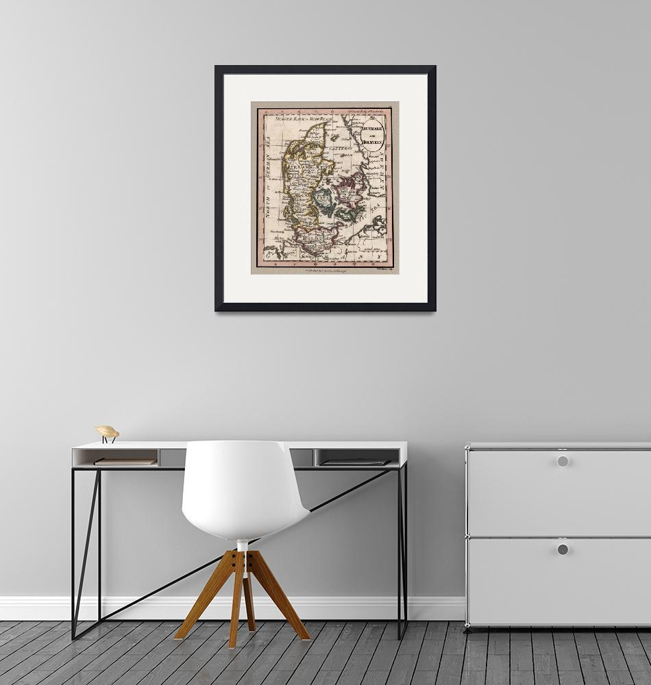 """""""Denmark Old British Map 1798""""  (2020) by WilshireImages"""