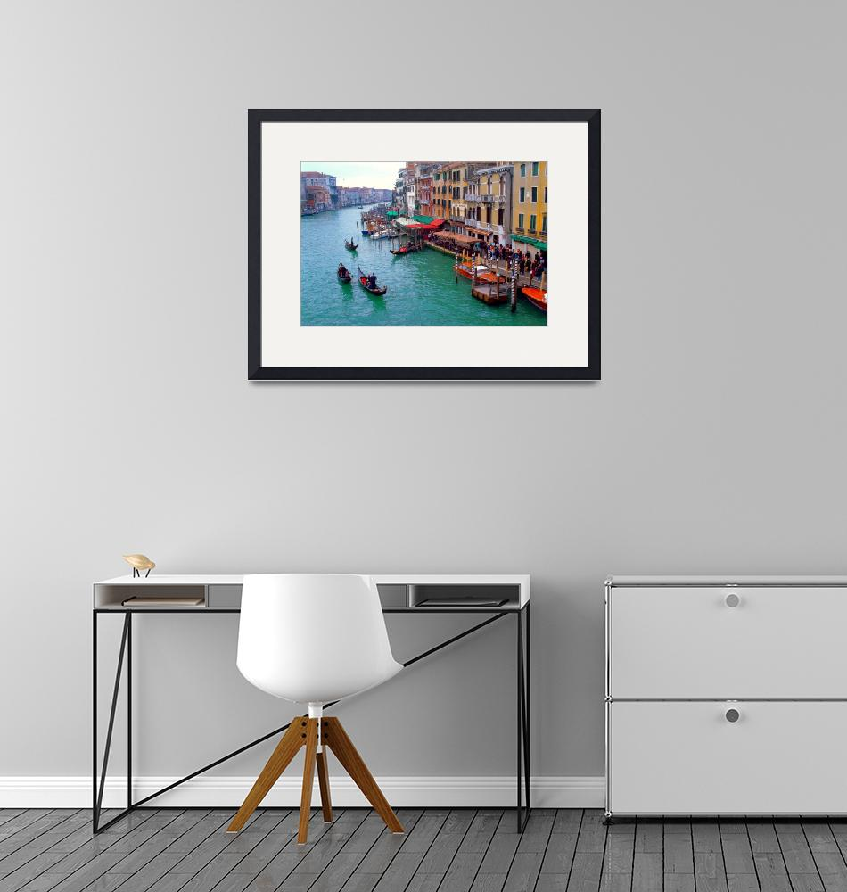 """""""View of Canal Grande""""  (2013) by painterflipper"""
