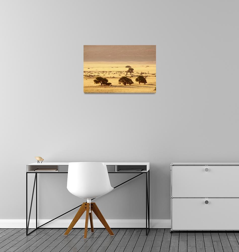 """Sunset over the valley""  (2011) by aldakauffeld"