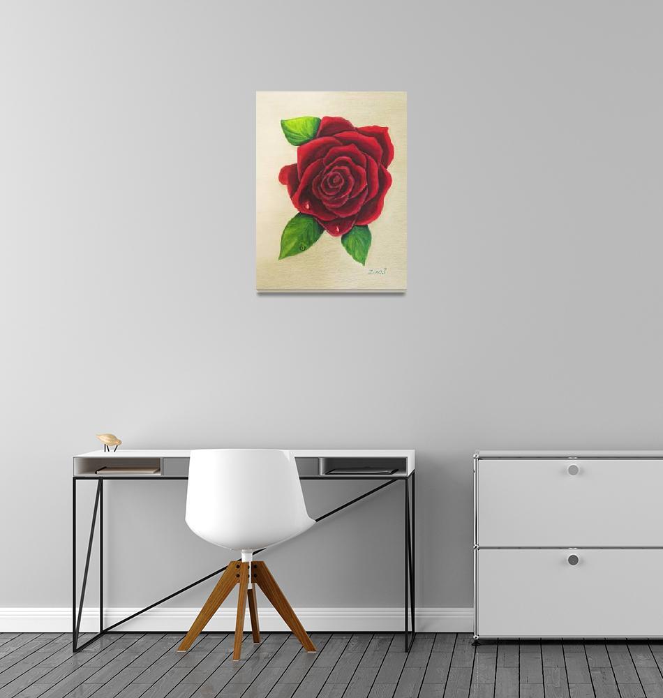 """dark red rose""  (2012) by Zinastr"
