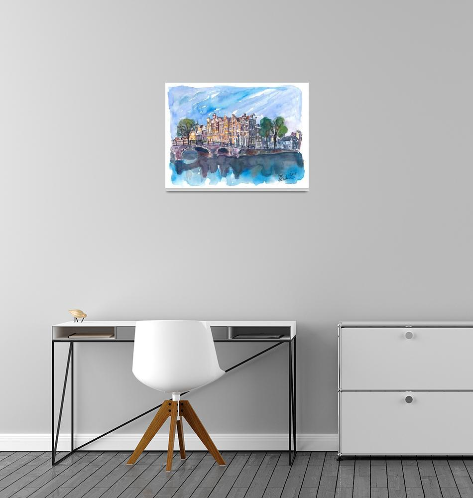 """""""Amsterdam Netherlands Canal Sunset On Prinsengrach""""  (2018) by arthop77"""