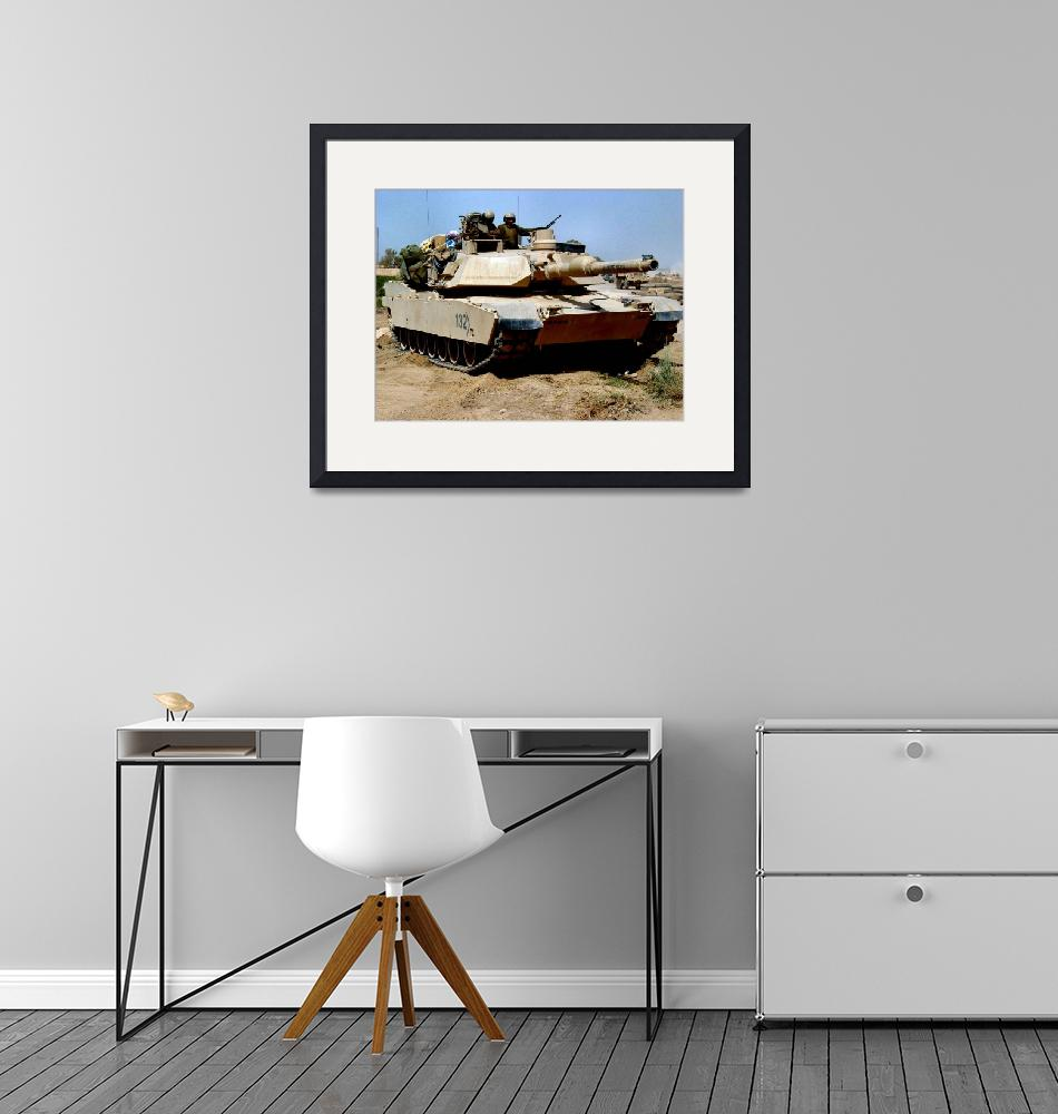 """M 1 Abrams Main Battle Tank in Middle East""  (2014) by TheNorthernTerritory"