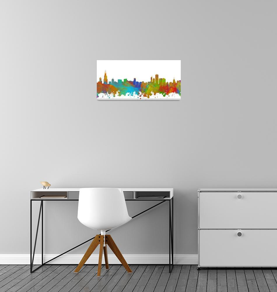 """Chicago Skyline Silhouette II""  (2018) by palmsrick"