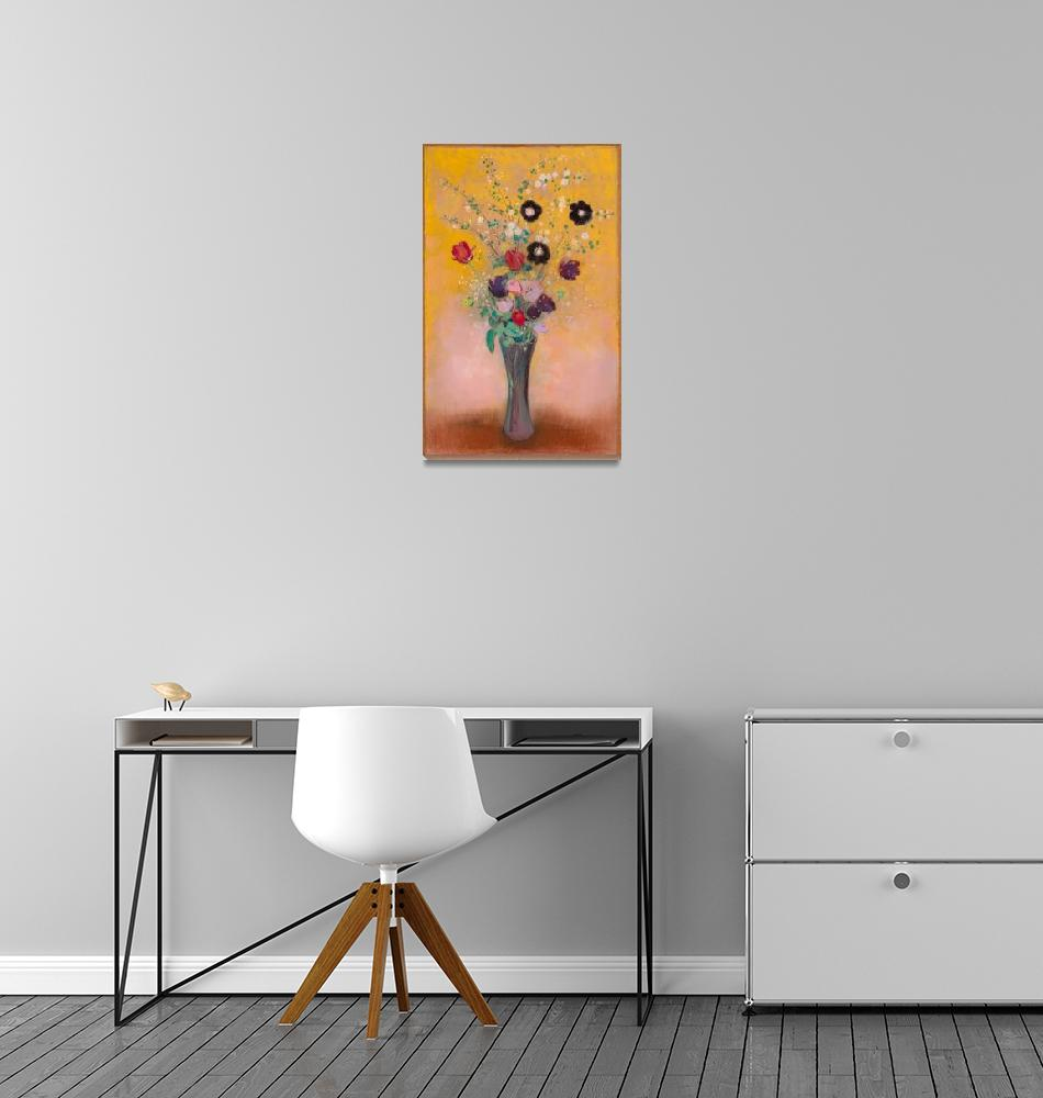 """Vase of Flowers, Still Life by Odilon Redon""  by FineArtClassics"