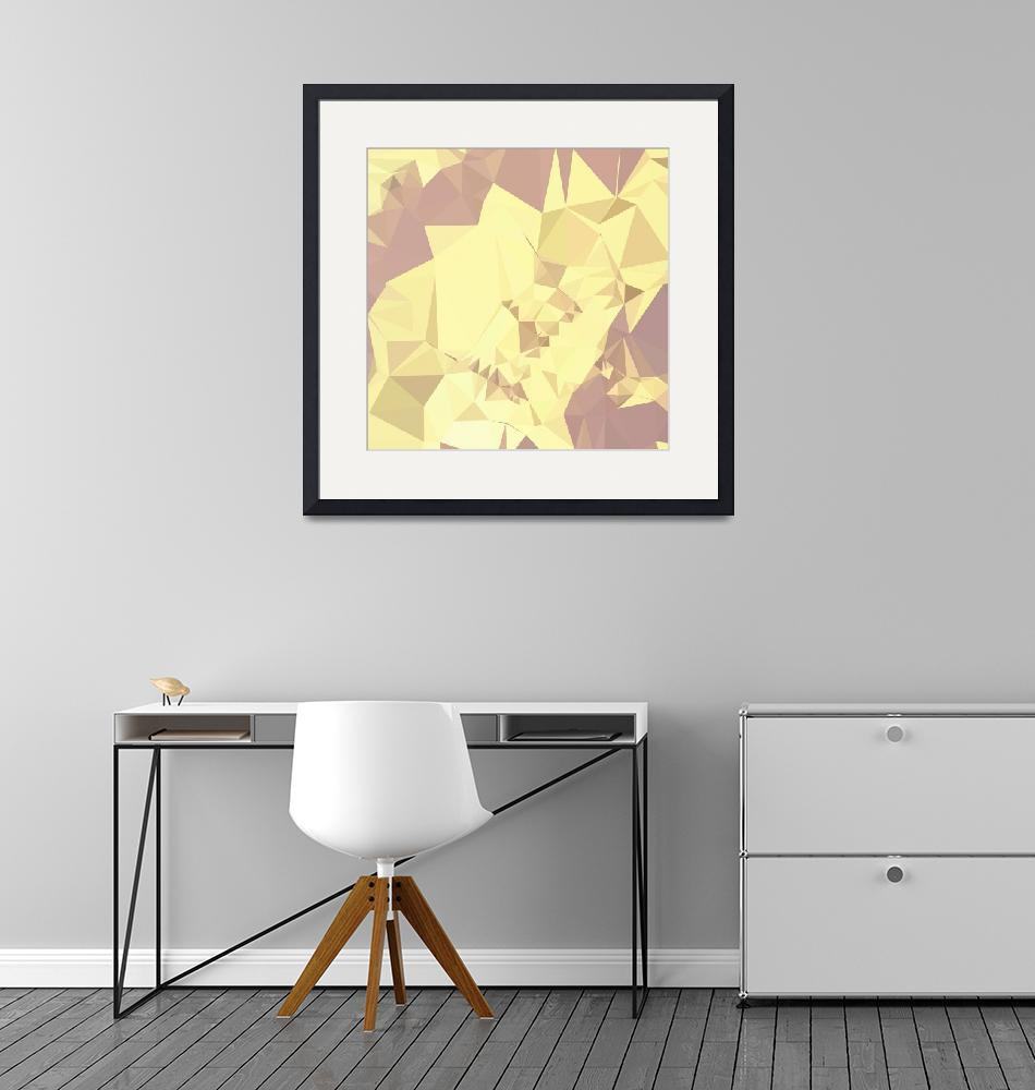 """""""Arylide Yellow Abstract Low Polygon Background""""  (2015) by patrimonio"""