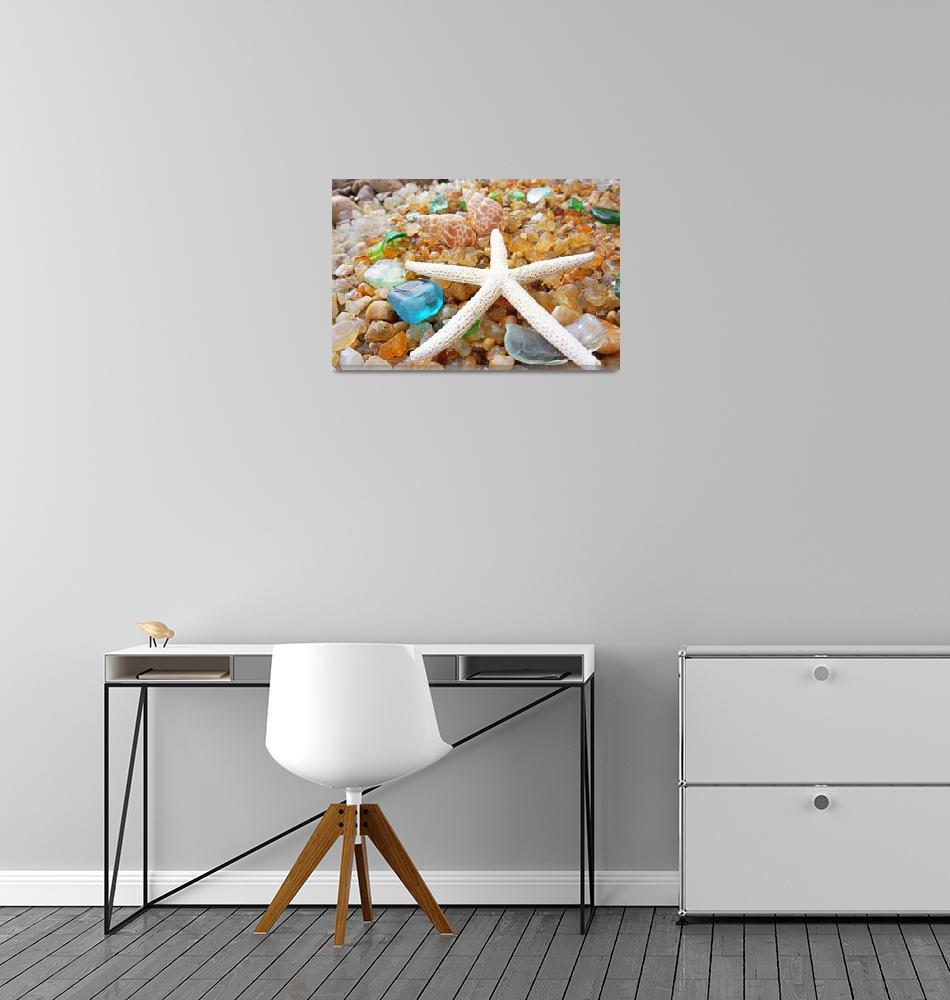 """Starfish Art Prints Seaglass Shells Agates Coastal"" (2014) by BasleeTroutman"